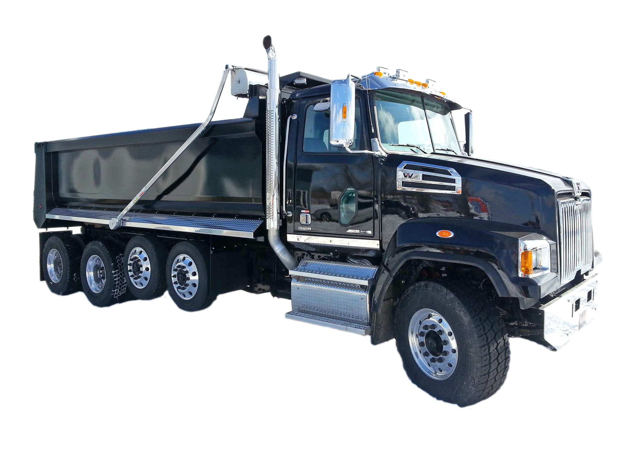 Black Dump Truck Equipment