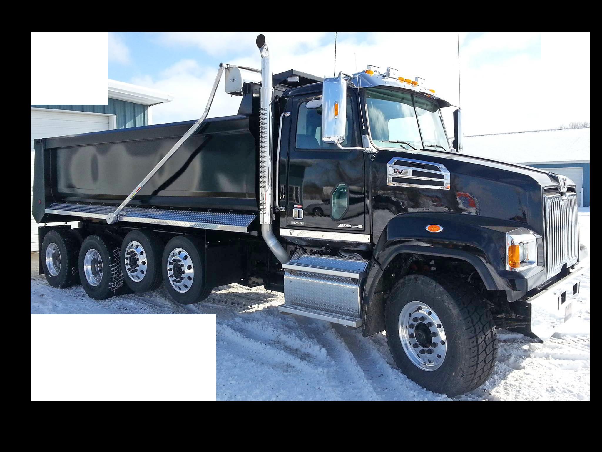 Black Dump Truck Equipment