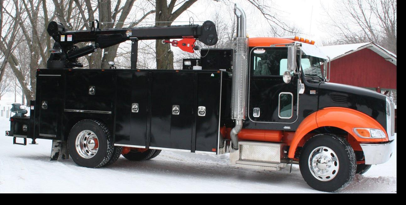 Black Crane Service Truck